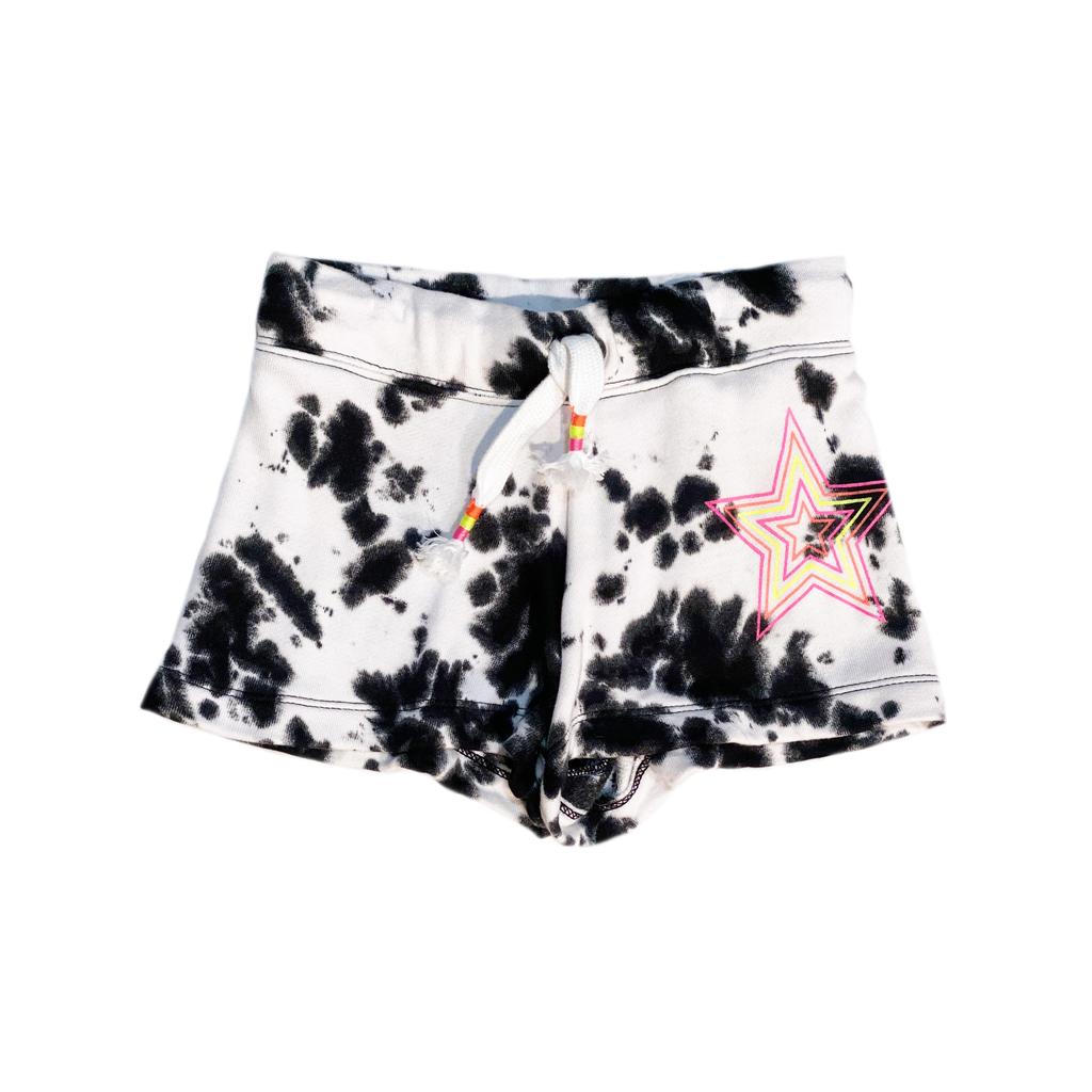 Flowers by Zoe Flowers by Zoe Black Tie Dye Shorts