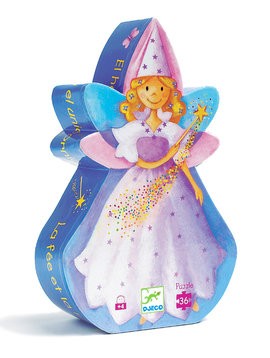 Djeco Toys Djeco Puzzle Fairy And Unicorn Silhouette