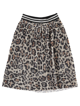 molo Molo Kids Shimmer Leopard Skirt Bailini