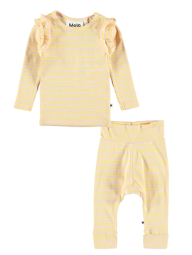 molo Molo Baby Girl Ruffle Stripe Set