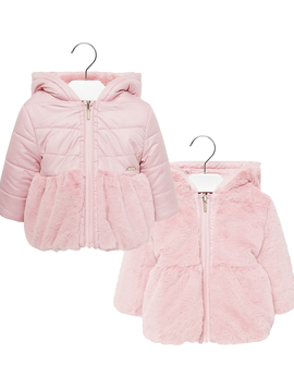 Mayoral Reversible Pink Coat - Mayoral