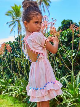 Little Peixoto Little Peixoto Nissi Dress Pink Stripe