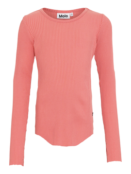 molo Molo Kids Rochelle Ribbed Top Rose