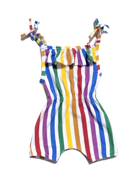 Hugo Loves Tiki Hugo Loves Tiki Rainbow Terry Ruffle Playsuit