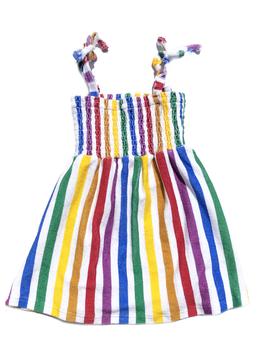 Hugo Loves Tiki Hugo Loves Tiki Terry Rainbow Stripe Dress