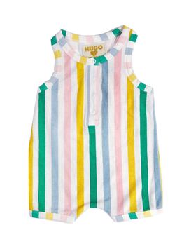 Hugo Loves Tiki Hugo Loves Tiki Terry Romper Pastel Stripes