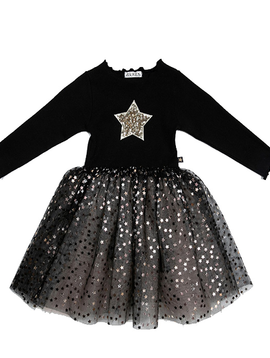 Survolte Star Glitter Tulle Dress