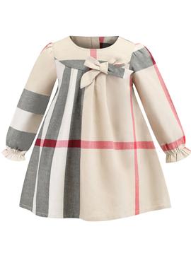 Survolte Designer Kids Check Bow Dress
