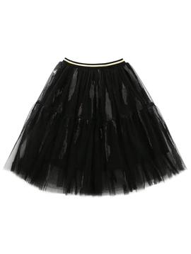 Survolte Designer Kids Black Tulle Skirt w Sequin