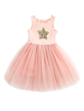 Survolte Designer Baby Girl Star Tulle Dress