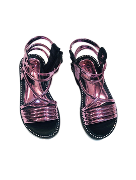 Survolte Designer Kids Patent Gladiator Sandals