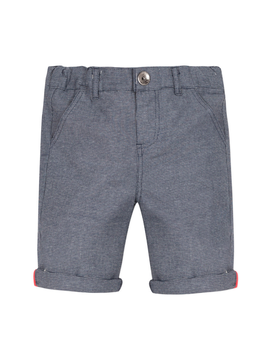 3pommes Clothing 3pommes Boys Navy Pattern Shorts