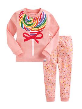 Sugar Bear Lollipop Print Pajamas