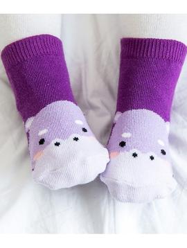Sugar Bear Hippo Animal Socks