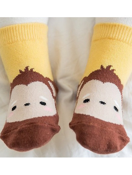 Sugar Bear Monkey Animal Socks