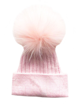 Sugar Bear Pink Pom pom Hat