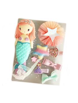 Sugar Bear Mermaid Brush Clip Set