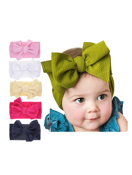 Sugar Bear Baby Solid Bow Headband