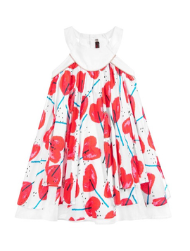 Catimini Catimini Red Hearts Dress