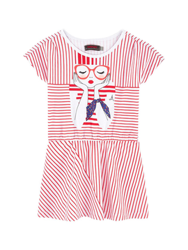 Catimini Catimini Red Stripe Dress