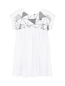 IKKS IKKS Geometric White Dress