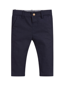 Mayoral Mayoral Baby Boy Navy Linen Pants