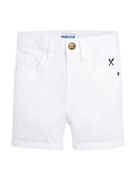 Mayoral Mayoral Boys White Cotton Shorts