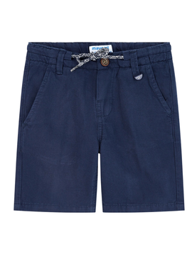 Mayoral Mayoral Boys Navy Cotton Linen Shorts