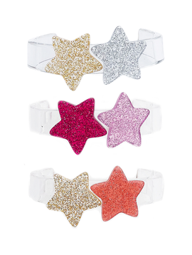 Lilies and Roses Glitter Stars Cuff Bracelet - Lilies and Roses