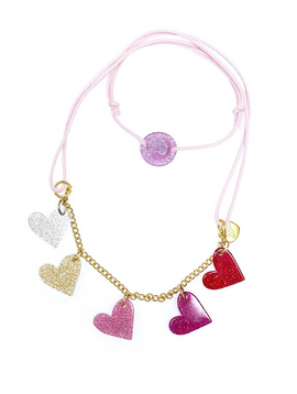 Lilies and Roses Hearts Necklace - Lilies and Roses