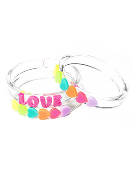 Lilies and Roses Love Bangle Bracelets - Lilies and Roses