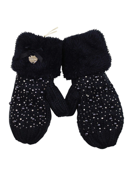Le Chic Designer Kids Navy Pearl Mittens