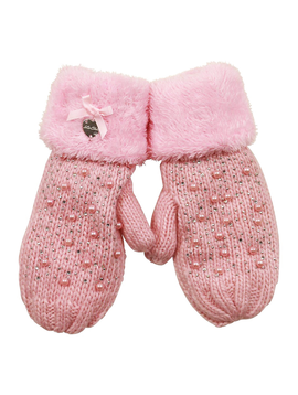 Le Chic Designer Kids Pink Pearl Mittens