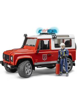 Bruder Bruder Toys Land Rover Fire Vehicle