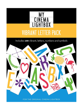 My Cinema Lightbox Vibrant Letter Pack