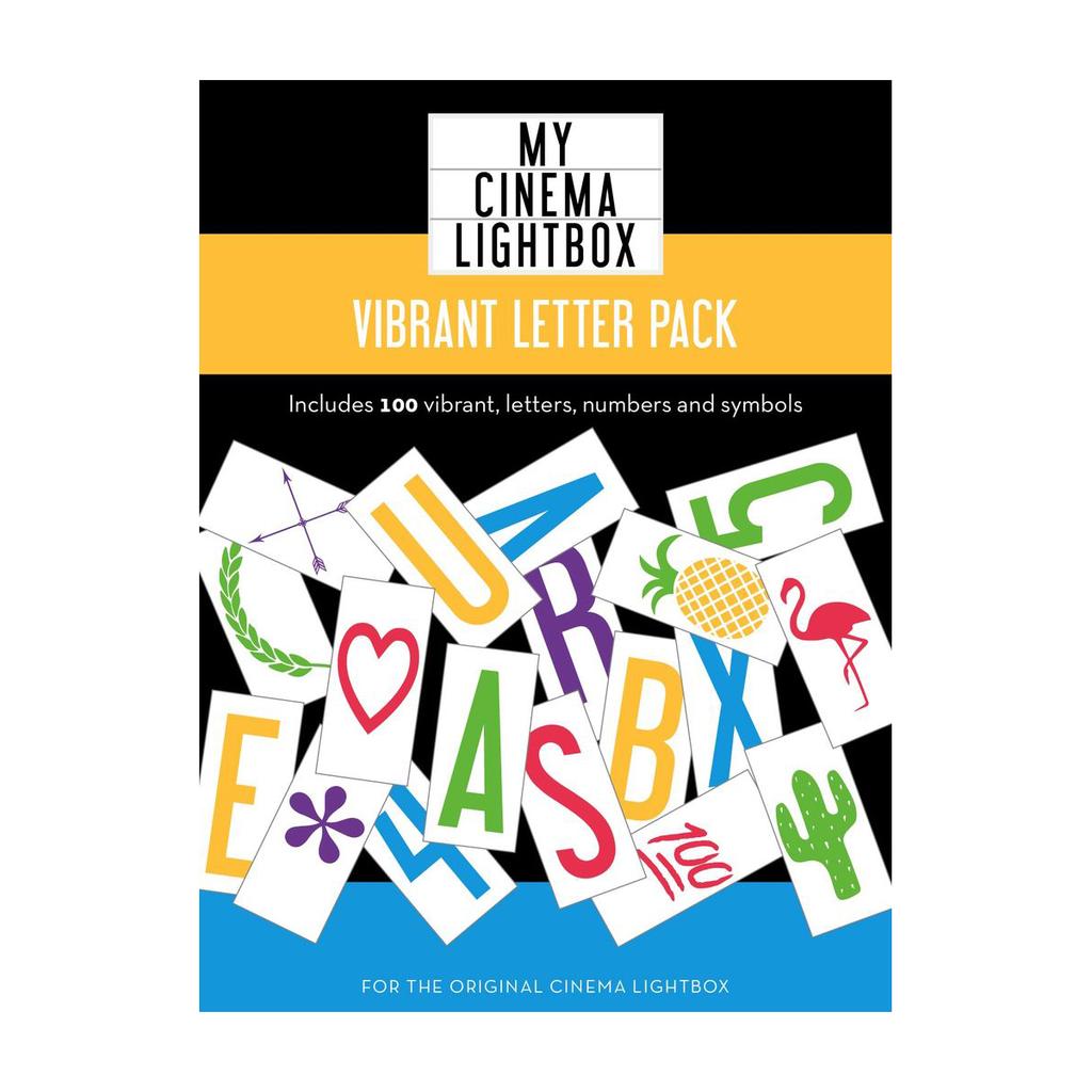 My Cinema Lightbox Mini Vibrant Add-On Letter//Symbol Packs Icon Color