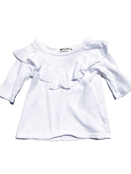 LAmade LAmade Kids White Ruffle Top