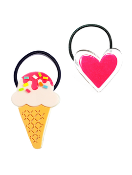 Lilies and Roses Neon Ice Cream and Heart Set - Lilies and Roses