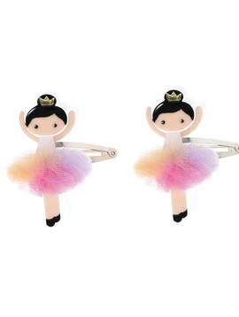 Lilies and Roses Snap Clip - Rainbow Pom Ballerina - Lilies and Roses