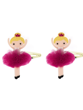 Lilies and Roses Snap Clip - Pink Pom Ballerina - Lilies and Roses