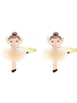 Lilies and Roses Snap Clip - Gold Pom Ballerina - Lilies and Roses