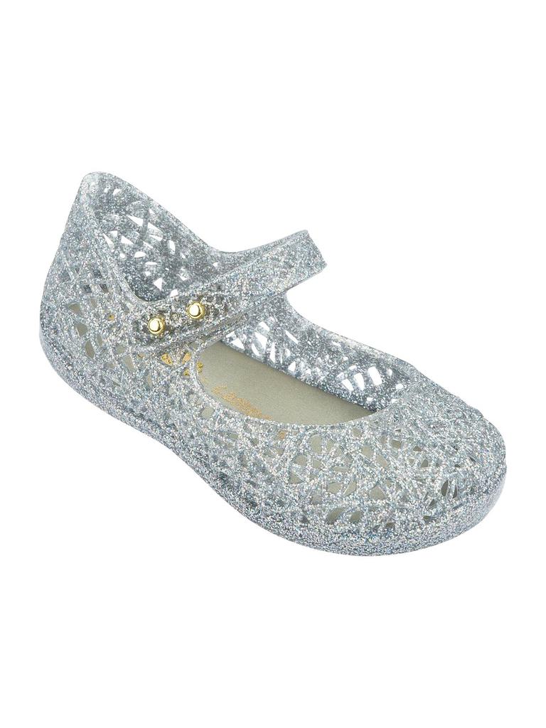 Campana Silver Glitter Shoes - Pumpkin