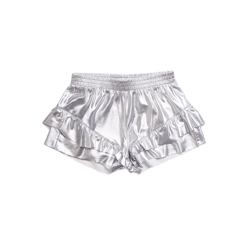 Imoga Metallic Silver Shorts