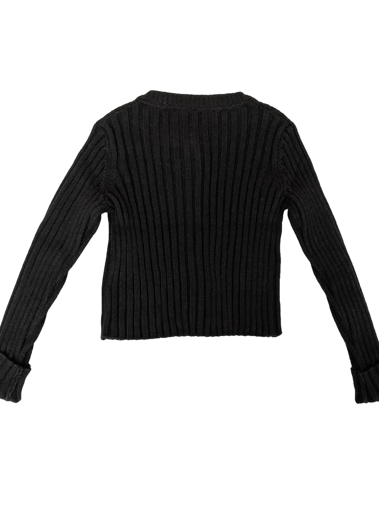 Basic Knitted Cardigan for Girls Mayoral 0326 Black