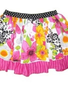 Love u Lots Love U Lots - Print Double Layer Skirt