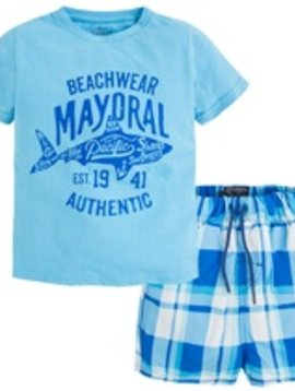 Mayoral Mayoral - Plaid Swim Set