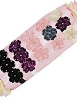 Misc Rhinestone Velvet Flower Elastic Headband