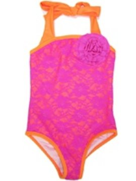 Love u Lots Love U Lots - Tween Lace Shimmer Lining Swimsuit