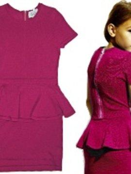 Autumn Cashmere Autumn Cashmere - Peplum Zip Dress (8Y-12Y)
