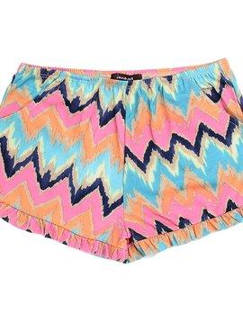 Imoga Viscose Ikat Print Shorts - Imoga